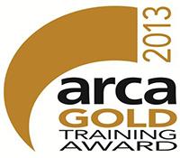 ARCA gold logo